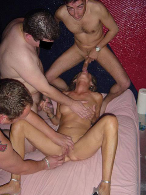 gangbang-queen-michelle-sucks-a-hard-cock-while-her-pussy-gets-teased